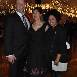 Michael Seiler, Liz Bucheit and Carla Joseph were all smiles at the event.