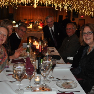 Guests enjoy a scrumptious dinner by Johnny Mango's Catering.